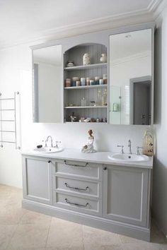 Grey painted cabinets potentially for our shower room (and laundry?)Provincial Kitchens Sydney