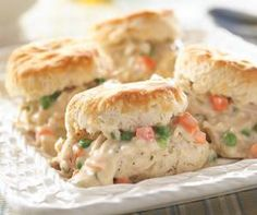 Old-Fashioned Creamed Chicken and Biscuits from Crisco®