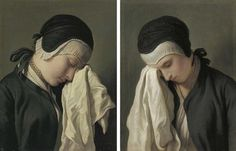 Pietro Rotari Study of Crying Woman 18th Century