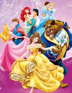 All Disney Princesses as Mermaids   Disney Princesses - Royal Love by SilentMermaid21
