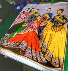 Dress Design Drawing, Dress Design Sketches, Fashion Design Sketchbook, Fashion Design Drawings, Fashion Sketches, Art Sketches, Fashion Drawing Dresses, Fashion Illustration Dresses, Mandala Art Lesson