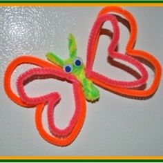Pipe Cleaner Butterfly Magnet Craft