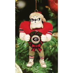 Georgia Bulldogs Mascot Wreath Ornament Image