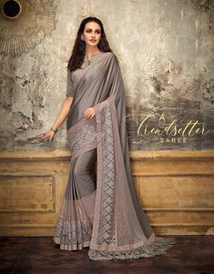 Product ID: Work Type: Resham Embroidery & Stones Work Saree Color: Gray Blouse Color: Gray Saree Fabric: Lycra, Fancy Net Blouse Fabric: Art Silk Saree Size: Metres Blouse Piece Size: Metres Traditional Fashion, Traditional Sarees, Fancy Sarees, Party Wear Sarees, Indian Clothes Online, Net Blouses, Ethnic Sarees, Designer Sarees Online, Embroidered Clothes