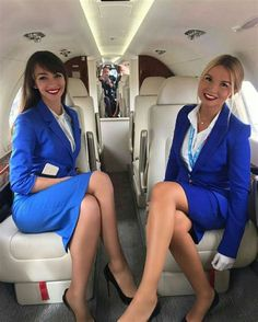 airline stewardesses in high heels