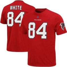 NFL Mens Atlanta Falcons Roddy White The Eligible Receiver Bright Cardinal Short Sleeve Basic Crew Neck Tee by Majestic. $22.99. Show Your Favorite Nfl Player You Are Their Number 1 Fan In This Eligible Receiver Name & Number T-Shirt. Featuring Nfl Team'S Vibrant Color Scheme And Screen Print Graphics, This  T-Shirt Is Just What You Need To Help Cheer On Your Team Aall Season Long.