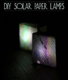 DIY solar powered paper lamps  Cool!!!