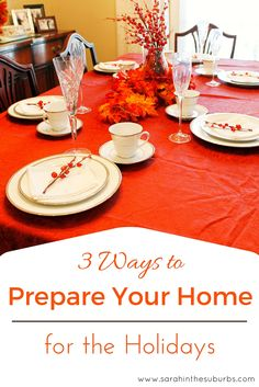 3 Ways to Prepare Your Home for the Holidays #HappyThanksgathering #ad