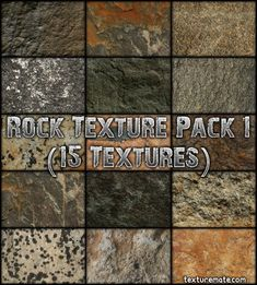 Free Texture Pack for Commercial Use - Rock 1 Stone Texture, Texture Art, Photoshop, Texture Packs, Article Design, Elements Of Design, Open Source, Three Dimensional, Logo Design