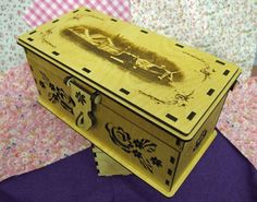 Working Narrowboats - Wooden Chest / Jewellery Box