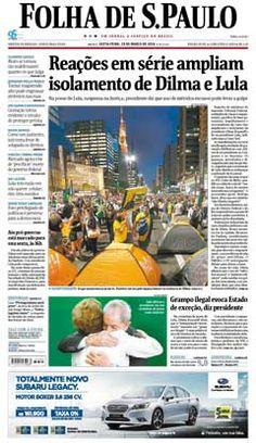 Versão Impressa - Capa de hoje. Acesse  http://josejaksonalagoinhas2016.blogspot.com e http://blog.planalto.gov.br