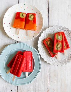 Strawberry Popsicles | The Little Epicurean
