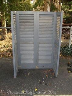 Repurposed shutters   Do It Darling