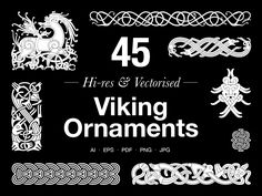 A set of 45 editable vector and Hi-res graphics From the Anatomy of Viking Art Series All the designs are based on the principles and characteristics of the actual Viking Age a… Folded Fabric Ornaments, Fabric Christmas Ornaments, Nativity Ornaments, Crochet Christmas, Vintage Ornaments, Garden Ornaments, Felt Christmas, Homemade Christmas, Ornament Wreath