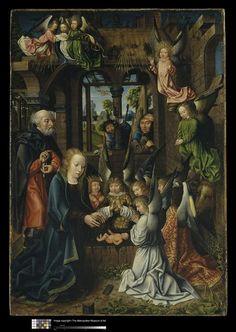L'Adoration du Christ enfant. Maître de Francfort, entre 1480 et 1515.