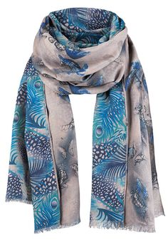 Butterfly/Fronds Double Sided Scarf