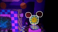 Epcot Journey Into Imagination with Figment - Upside Room Hidden Mickey ... Disney Parks, Walt Disney World, Hidden Mickey, Epcot, Flower Designs, Disneyland, Imagination, Journey, Room