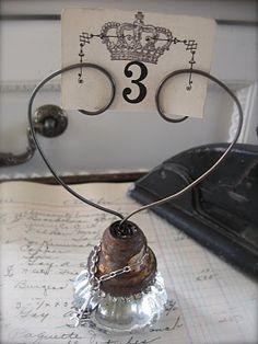Old door knob & wire  Inspiration...Vintage, The Vintage Inspired Home