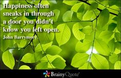 Enjoy the best John Barrymore Quotes at BrainyQuote. Quotations by John Barrymore, American Actor, Born February Share with your friends. Brainy Quotes, Happy Quotes, Happiness Quotes, True Happiness, Green Leaves, Plant Leaves, Fatsia Japonica, Door Quotes, John Barrymore