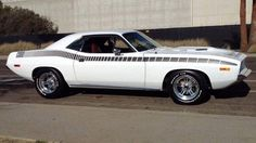 "1970 Plymouth AAR 'Cuda in ""Alpine White."""