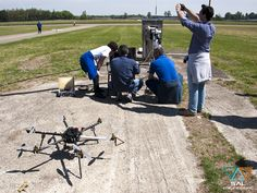Setting flight plane of ours UAV esacopter Esafly A2500