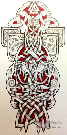 ✿ Tattoos ✿ Celtic ✿ Norse ✿ Ravens by Tattoo-Design