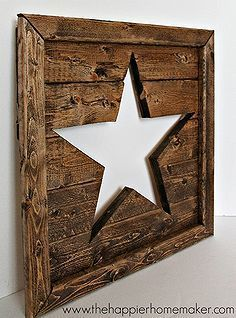 cutout star wall art, crafts, woodworking projects #woodworkingprojects