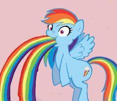 See more 'My Little Pony: Friendship is Magic' images on Know Your Meme! Rainbow Meme, Rainbow Dash, Rainbow Vomit, Tutorial Diy, Myers Briggs Personality Types, My Little Pony Friendship, Just For Fun, Smurfs, Princess Peach