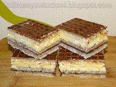 Wafle z masą z mleka w proszku i nutellą Polish Desserts, Polish Recipes, Polish Food, Nutella, Sweets Cake, Cheddar Cheese, Baked Goods, Sweet Recipes, Sweet Tooth