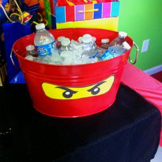 Ninjago decorations. I already have the perfect black bucket for this.