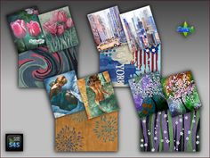 4 sets including a rug and two paintings at Arte Della Vita via Sims 4 Updates