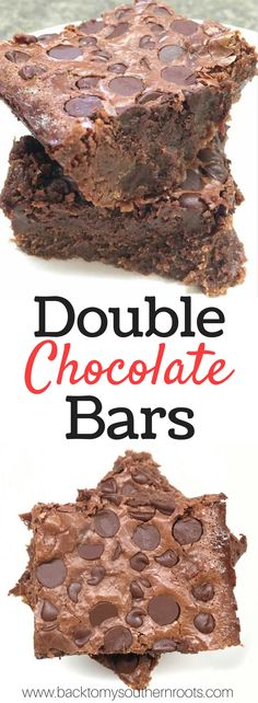 Double Chocolate Bars recipe is the perfect homemade dessert. With some of the best ingredients, including sweetened condensed milk and chocolate chips, these chewy bars are the hit of any party.