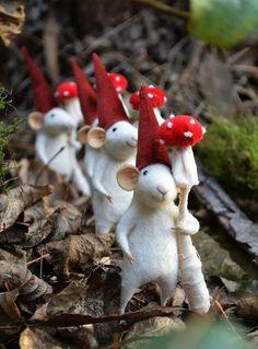 felted mice Fieltro con aguja / Needle felt