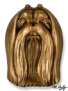 Maltese Dog Door Knocker - Premium Size, Bronze
