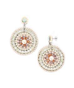 Pink Rotunda Pearl Earrings