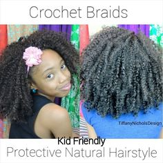#47. Crochet Braids on Natural Hair (Kid Friendly)