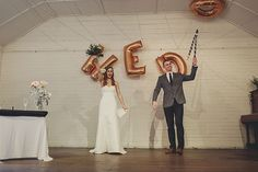 "Cut the ""D"" out and ""We Do"" becomes ""Wed""!"