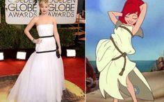 Vestido de Jennifer Lawrence no Globo de Ouro vira piada na web - Famosos - CAPRICHO