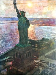 Bernie Fuchs, The Statue of Liberty.