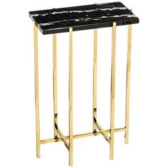 Interlude Home Laurent Rectangular Drink Table in Black