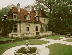 Petit at only 6800 sq. feet: Yesterday's estate was a modern version of a French chateau. Today's version is the real deal, a 17th century Chateau which was shipped to the United States in the 1920's. It now sits on 6.7 acres in Upper Brookville, NY.