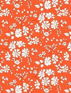 #Liberty   Qualité : Tana Lawn  Composition : 100% Coton  Largeur : 137 cm  Coloris : Orange    Motif : Capel 3055  Coloris :Z  Disponible en série limitée à partir de début juillet.  Il est conseillé de réserver.  Pour toute commande passée maintenant, une réduction spéciale de 5% est offerte.  29,00€/m
