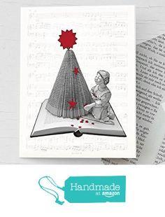 Weihnachtskarte mit handgemachtem Umschlag aus Buchseiten, als Buchgutschein, für Leseratten, nostalgische Klappkarte mit Weihnachtsbaum aus einem Buch von der Atelier Dorothea Koch https://www.amazon.de/dp/B01LXP2DZ4/ref=hnd_sw_r_pi_dp_jPAjybTWGA03A #handmadeatamazon