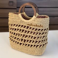 For some women, getting a genuine designer handbag is just not something to hurry into. As these bags can be so high priced, women usually worry over their choices prior to making an actual handbag acquisition. (Re:Fashion Shoulder bag. Crochet Teddy Bear Pattern, Pouch Pattern, Macrame Bag, Basket Bag, Crochet Handbags, Bead Crochet, Crochet Flats, Brown Bags, Summer Bags