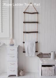 rope hanging towel rack - Google Search