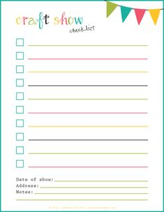 Craft show survival guide and free printable checklist.