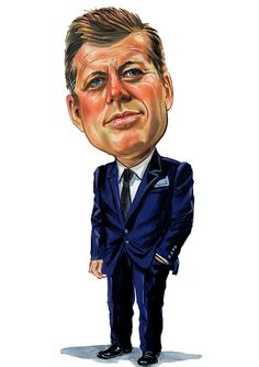 John F. Kennedy (Caricature) Dunway Enterprises: http://dunway.com - http://masterpaintingnow.com/how-to-draw-everything?hop=dunway
