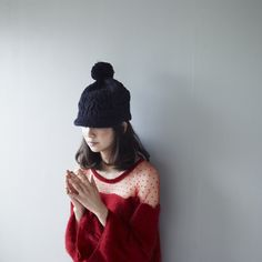 knitted hat & sweater