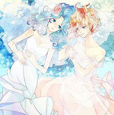 Haruka and Michiru wedding
