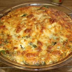 Crustless Crab, Artichoke & Spinach Quiche